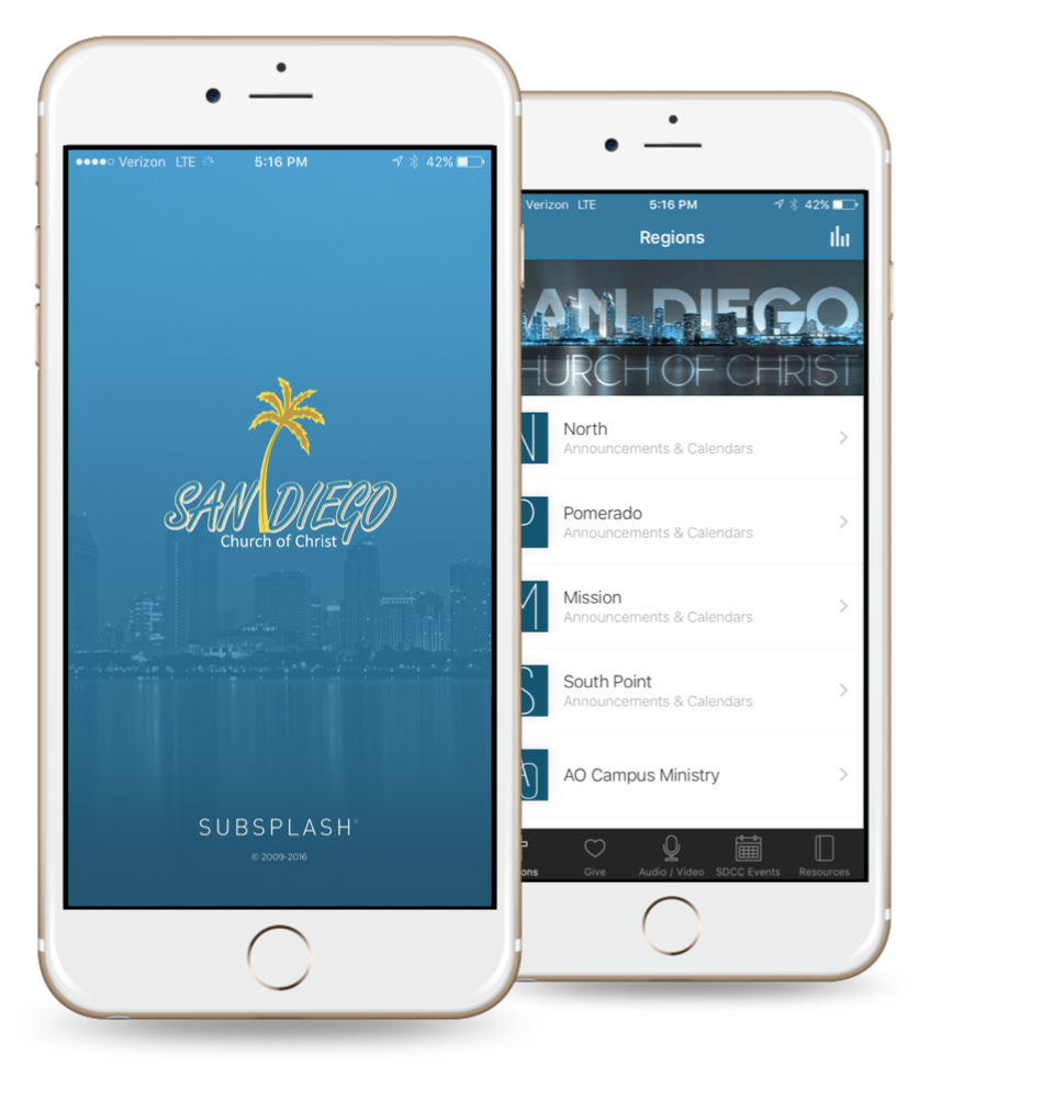 San Diego Church of Christ Mobile App